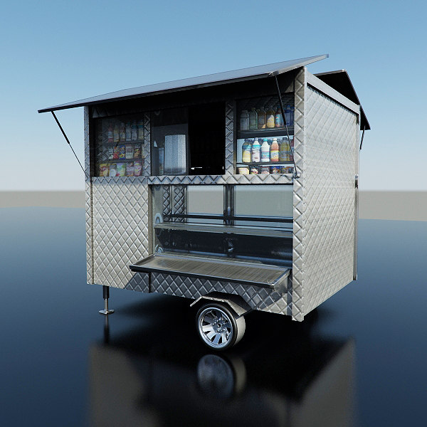 3d coffee food cart