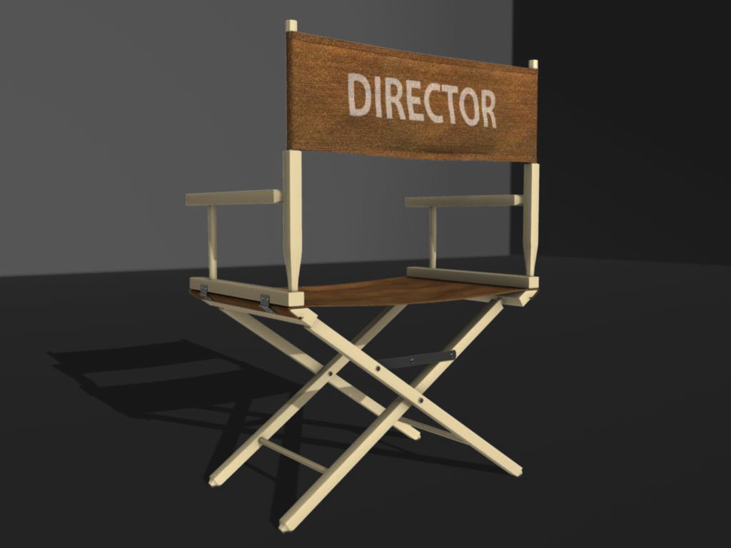 3d model of director s chair