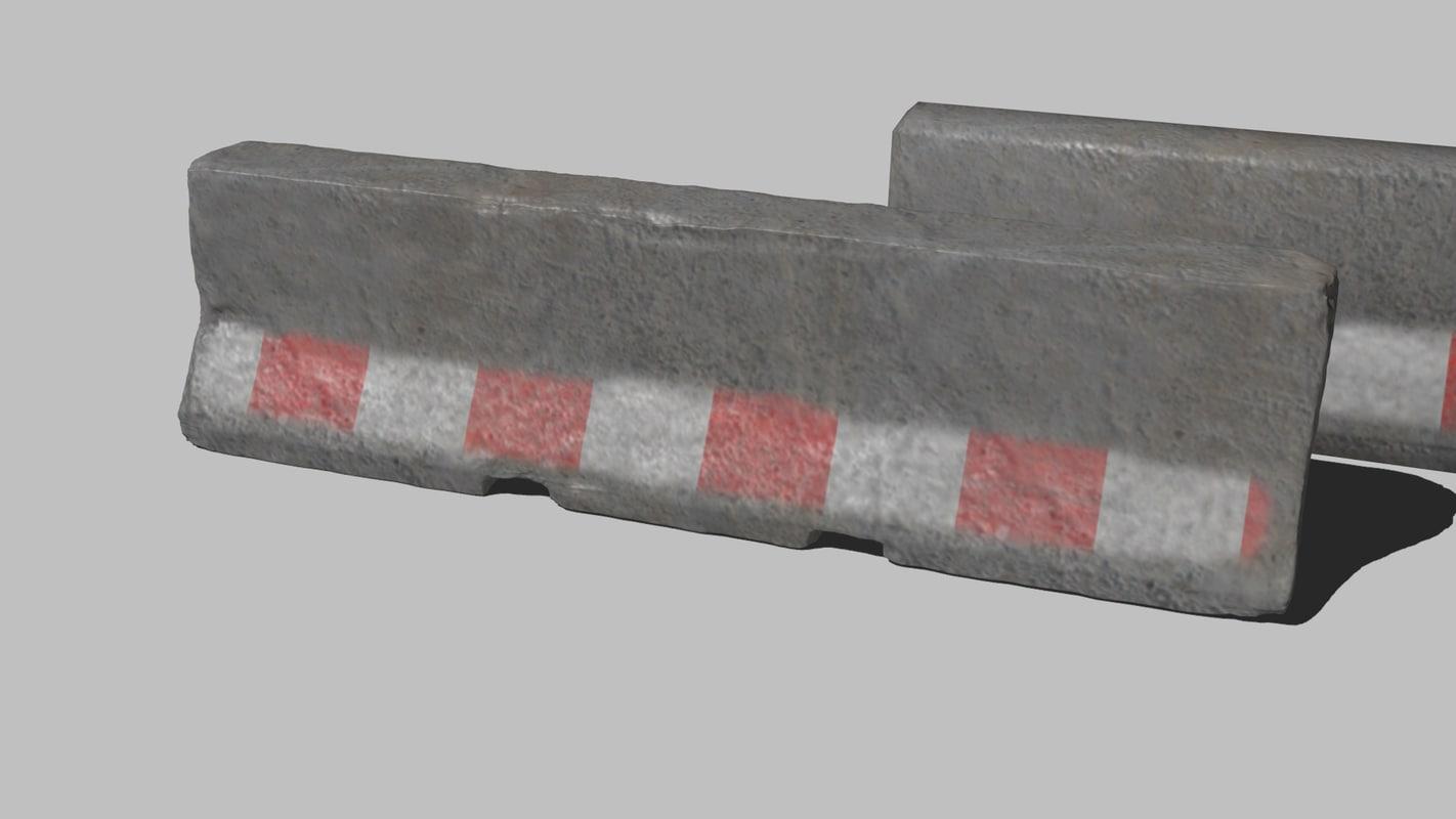 asset barriers 3d model