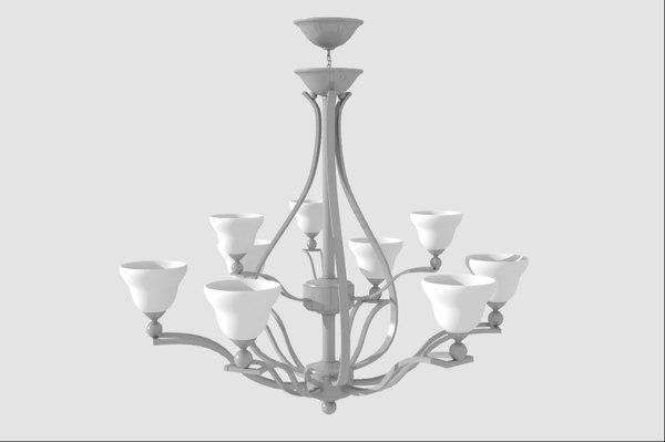 obj modern chandelier