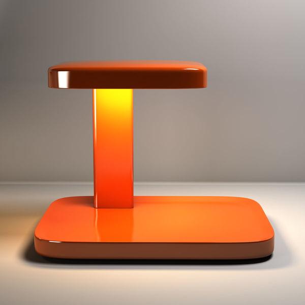 flos piani table lamp 3d model