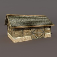 Old Barn Low poly 3d model