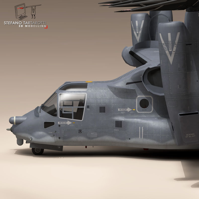 3d v-22 osprey usaf helicopter