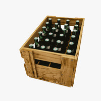 Wood Beer Crate With Beer