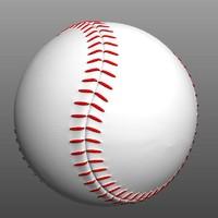 3d obj baseball