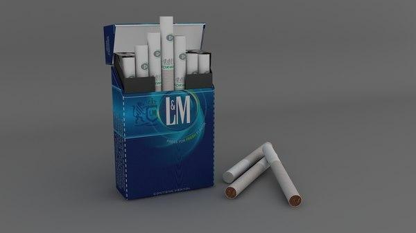 cigarette box 3d max