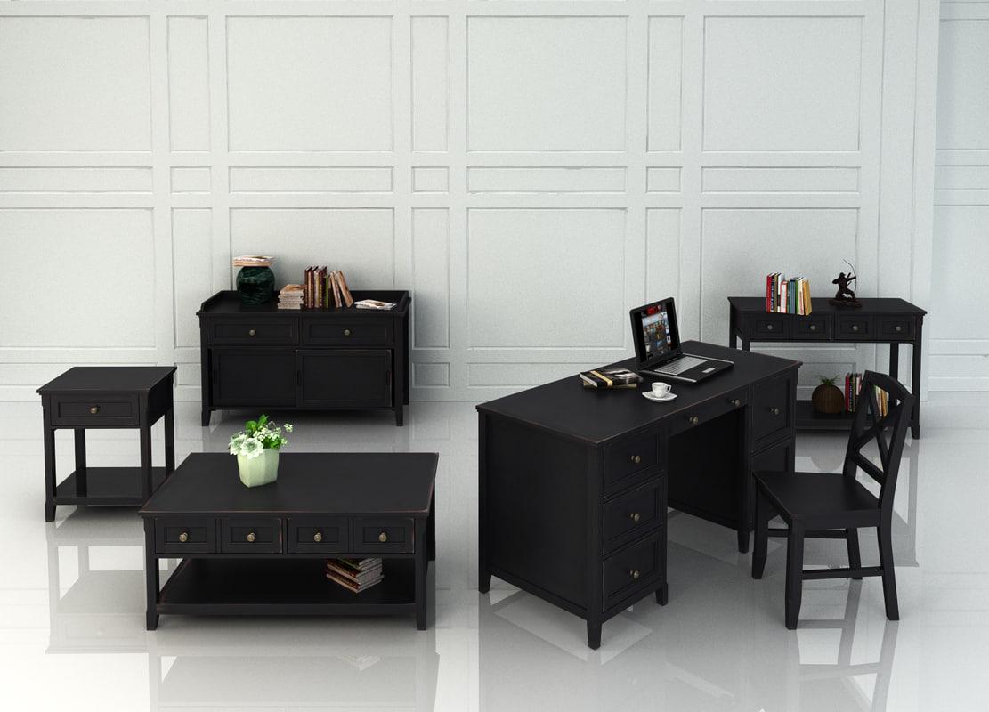 3d living room series