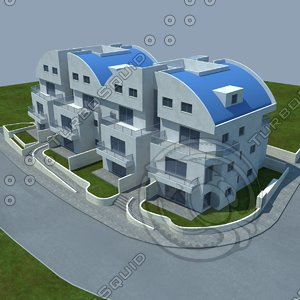 buildings 4 3d model