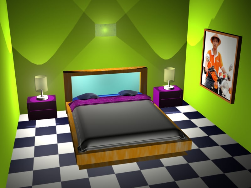 free bedroom new developer 3d model