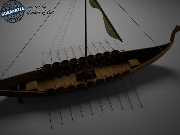3ds max viking boat