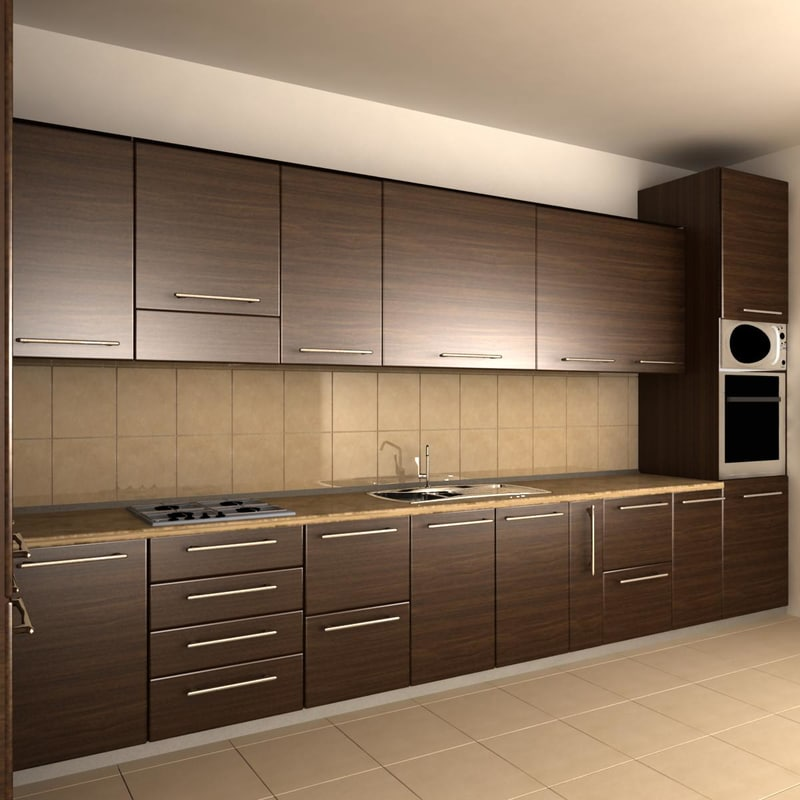 kitchen furniture 3d max