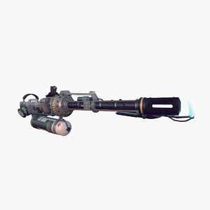 3d model flamethrower flame