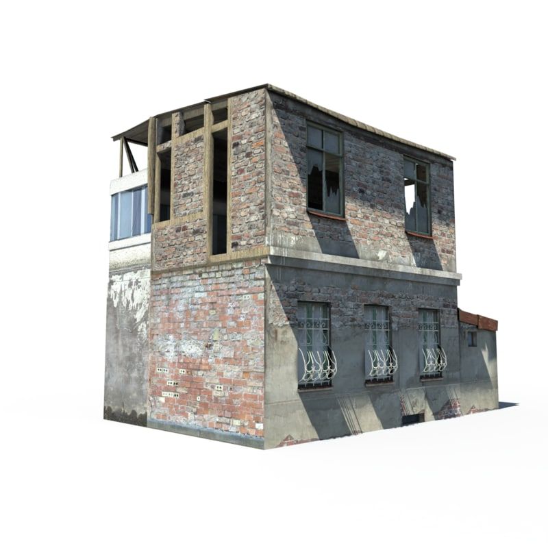 3ds max house ruin