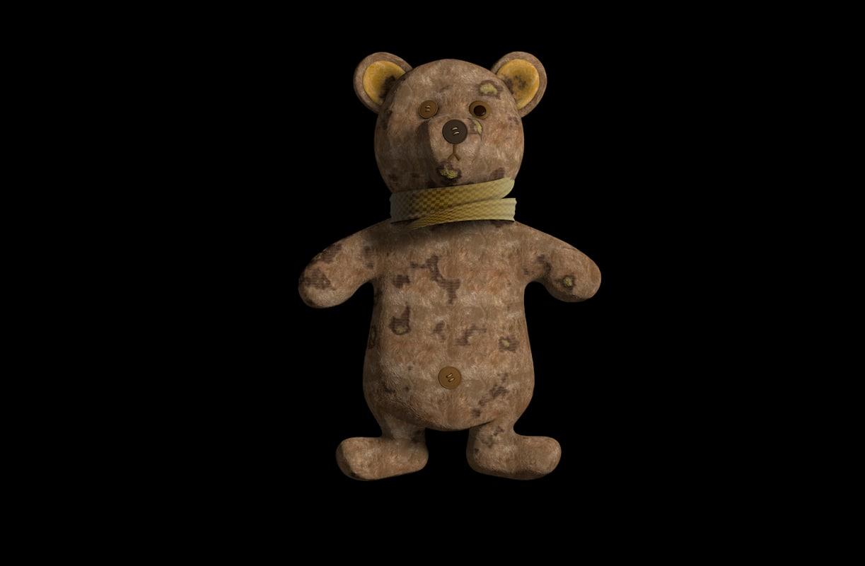 3d toy teddy bear model