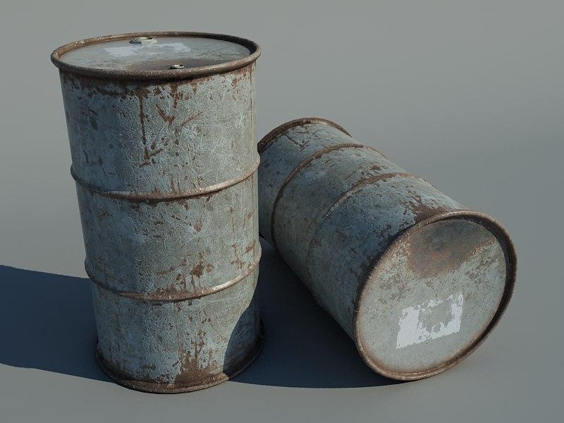 3d model rusted barrel