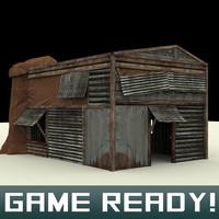 3d slums building 1 model
