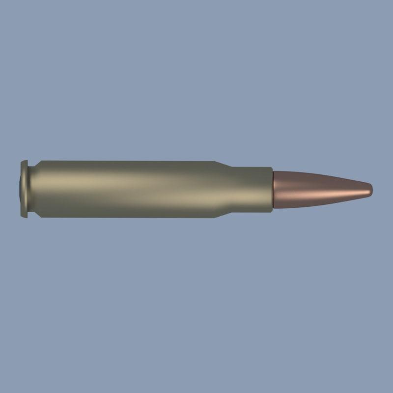 3ds model bullet 338