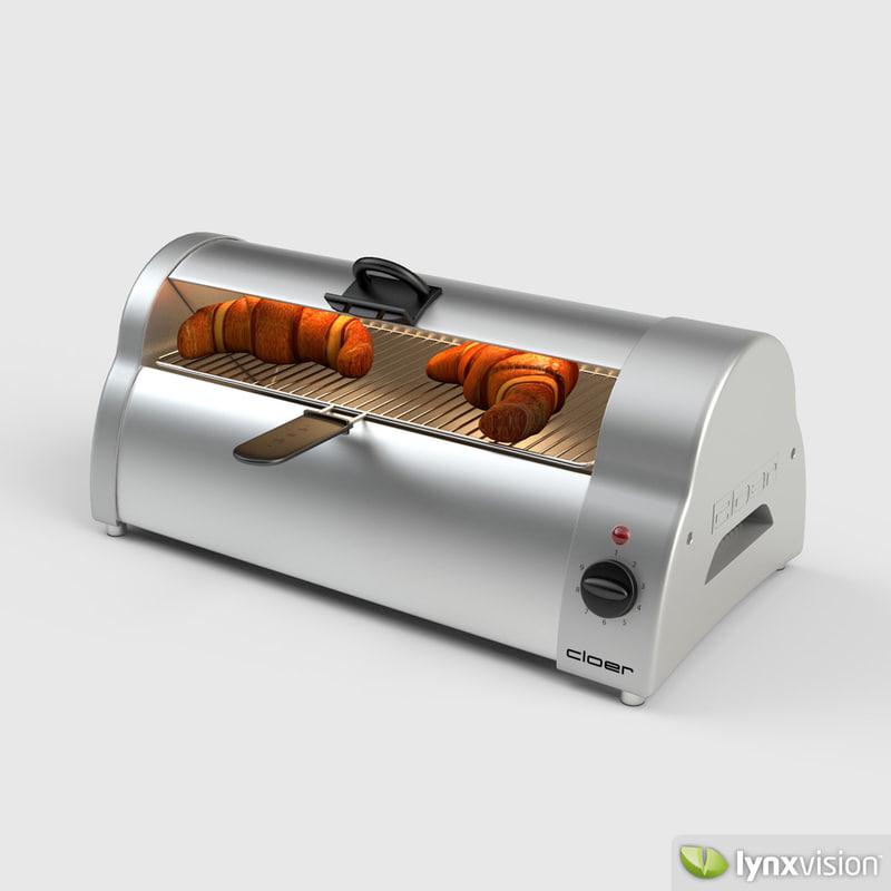 cloer bread baker 3d max