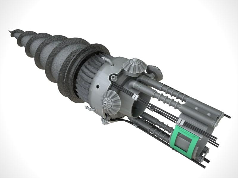 big drill 3d model