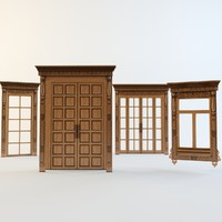 doors windows carved aprons 3d model