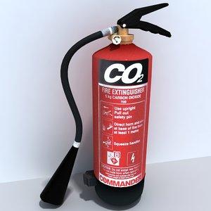 co2 extinguisher 3d model