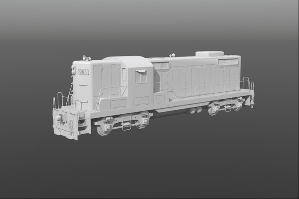 train gp9 locomotive 3d model