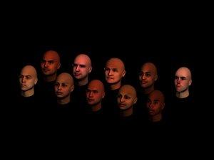 heads 3d obj