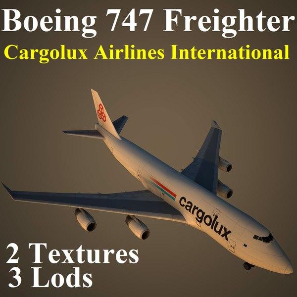 3d boeing 747 clx aircraft
