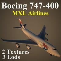 boeing 747-400 mxl max