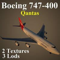 boeing 747-400 qan 3d x