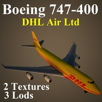 3d boeing 747-400 dhl