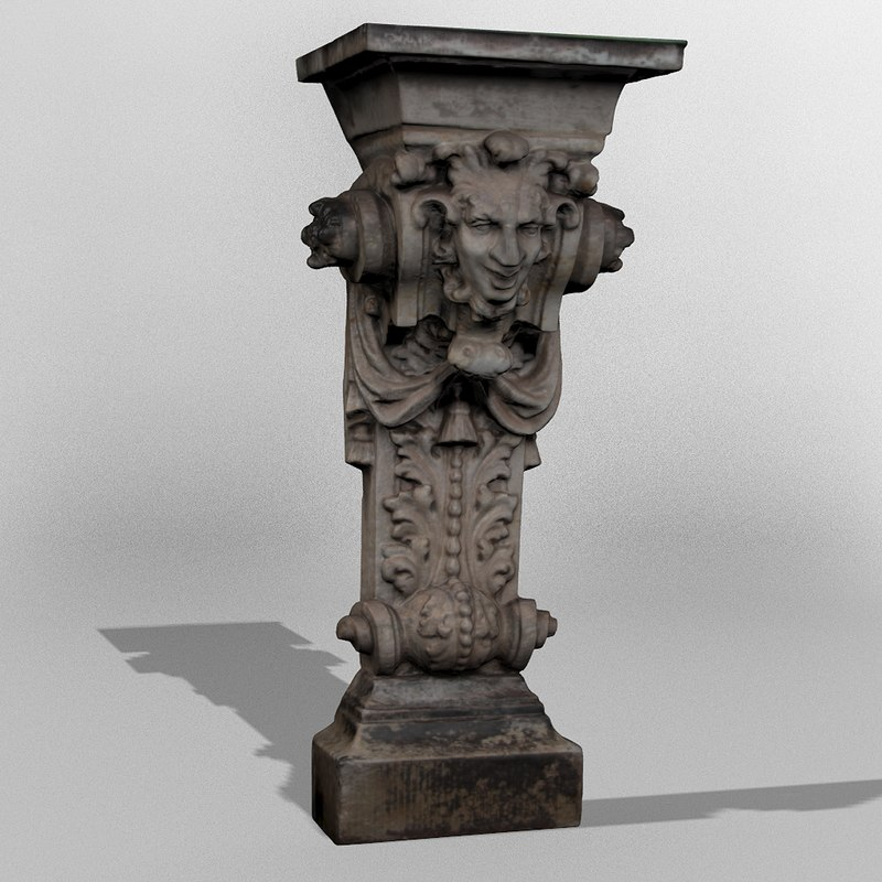 statue dresden 3d model