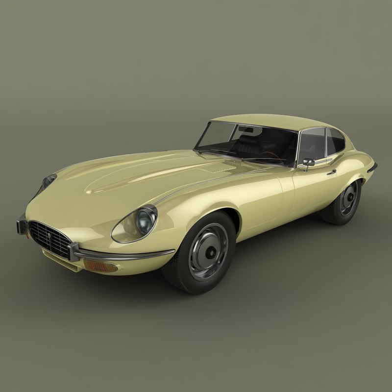 e-type coupe v12 3d 3ds