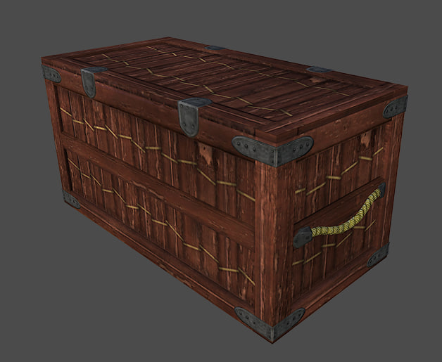 wood crate obj