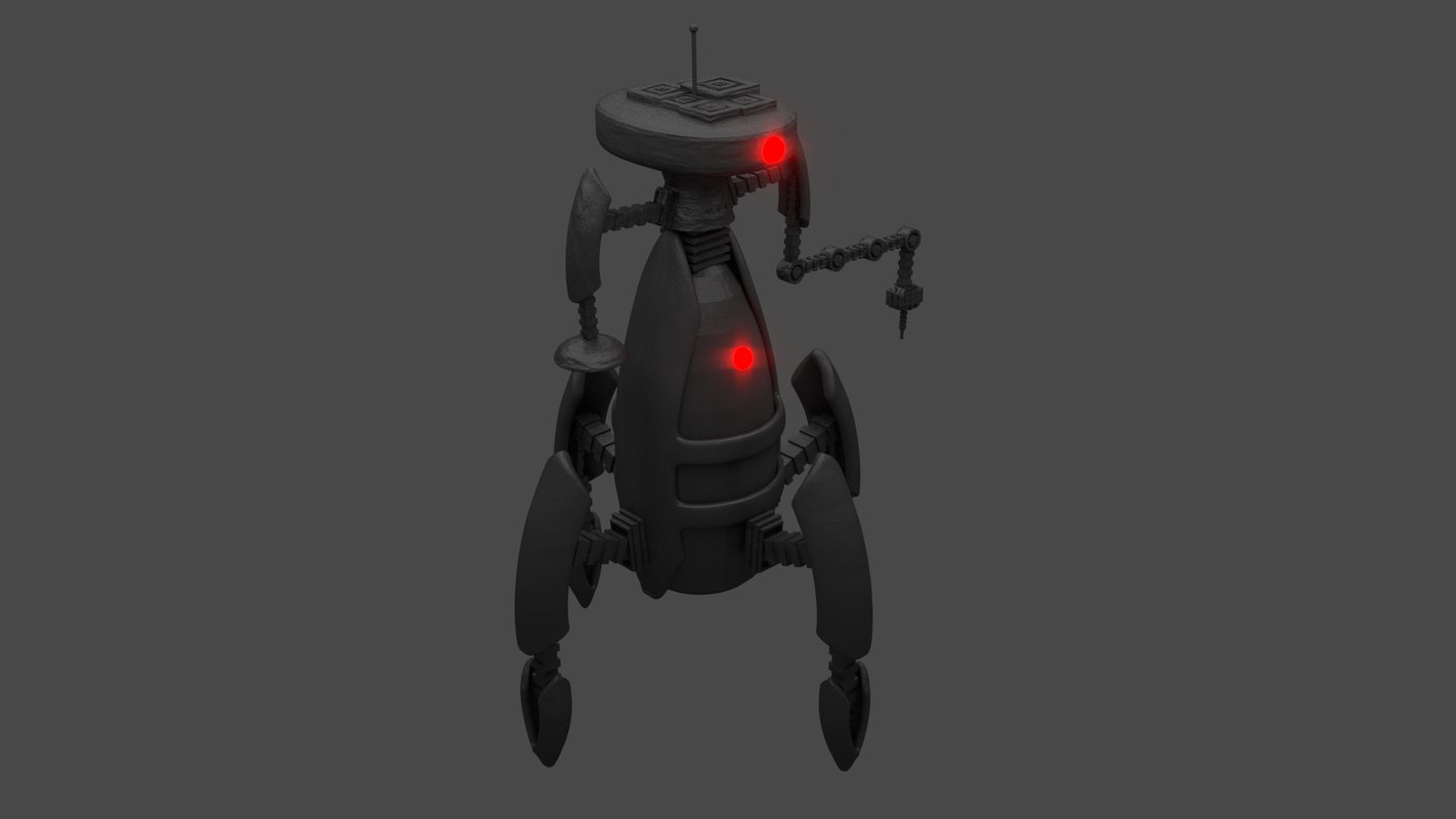 3d model research robot droid