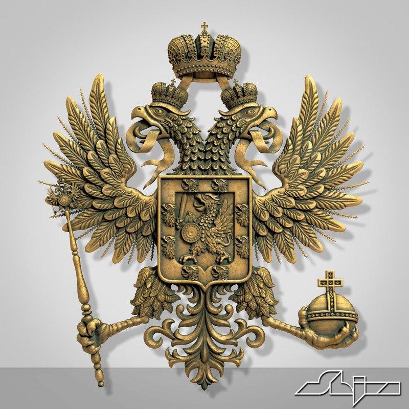 romanov coat arms 3d max