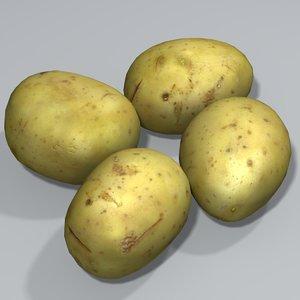 3d potato model