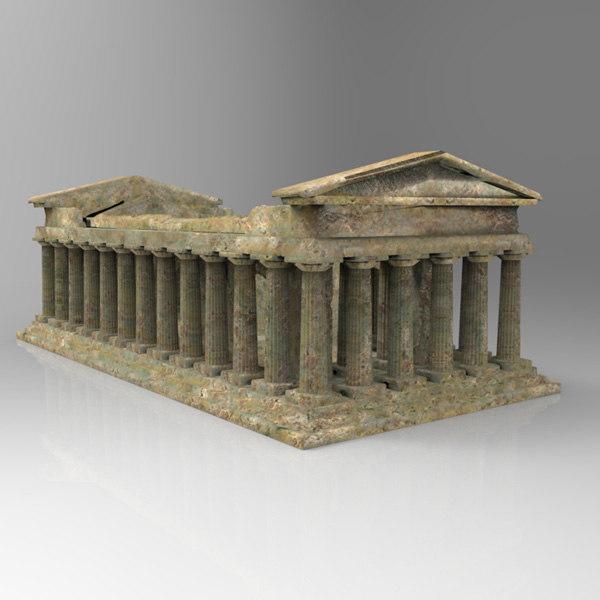 3d model temple romans