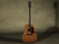 3d model washburn heritage acoustic guitar
