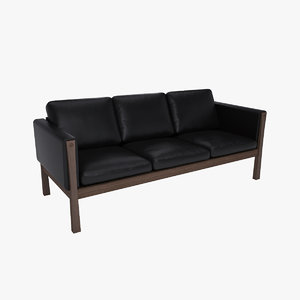 3ds hans wegner ch163 sofa