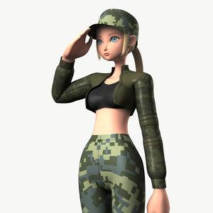 obj original character soldier girl