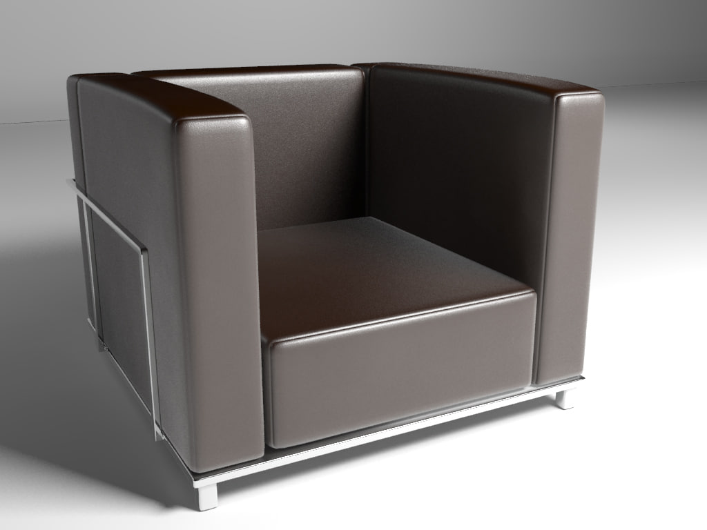 3ds max single chair modern interior