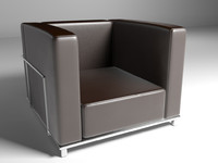 Single sofa leather modern chair