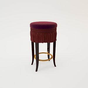 classic bar chair provasi 3d model