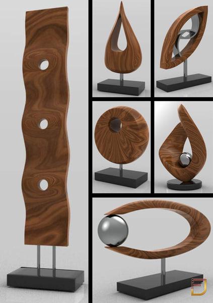 3d decorative elements model