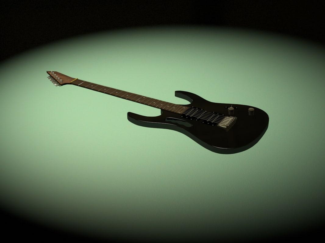 guitar c4d