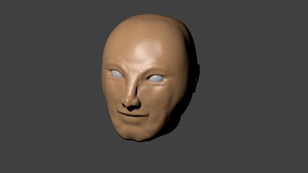 human head obj free