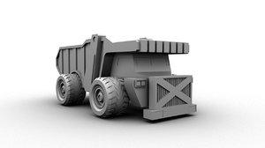 3d model huge truck