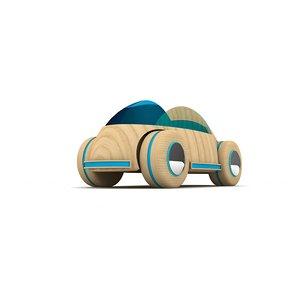obj wooden toy car lighting