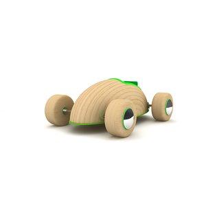 wooden toy car lighting 3d model